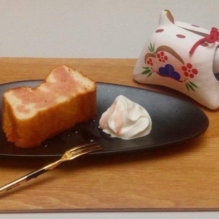 gâteau mousseline de soie à la fraise